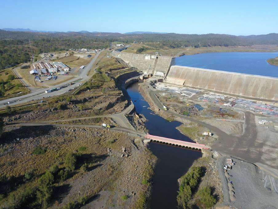 Plant and equipment has started to be removed from the Paradise Dam site and the workers camp buildings will be removed from site in July 2021. Picture: Sunwater