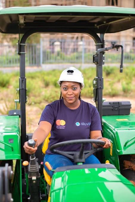 Linda Sheknami Auta grows rice, maize and soybeans on her 20-hectare leased property in Nigeria's Middle Belt region.